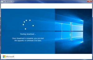 Windows-10 Download Screen